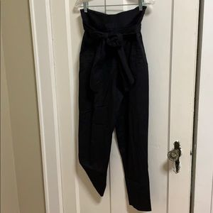 High waisted front tie pants from Anthropologie